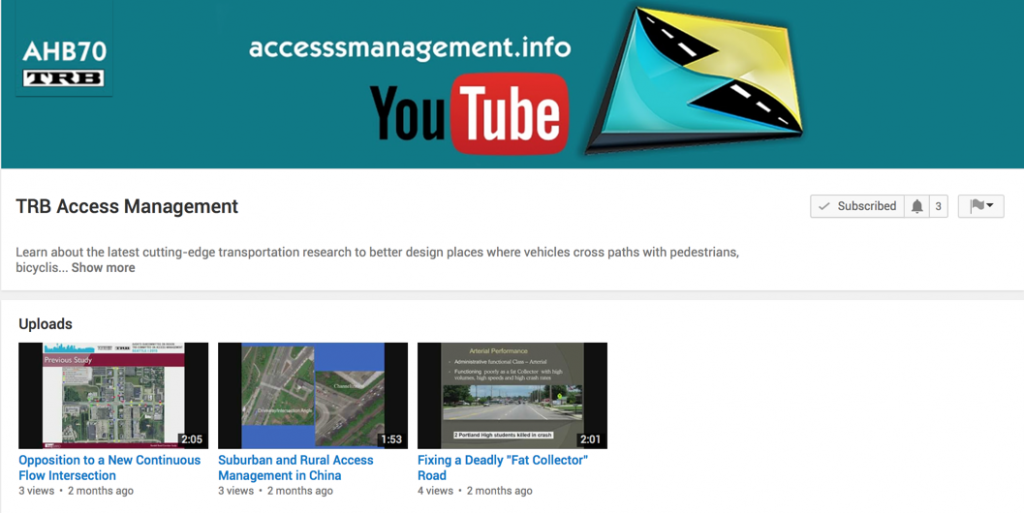 TRB Access Management YouTube Channel